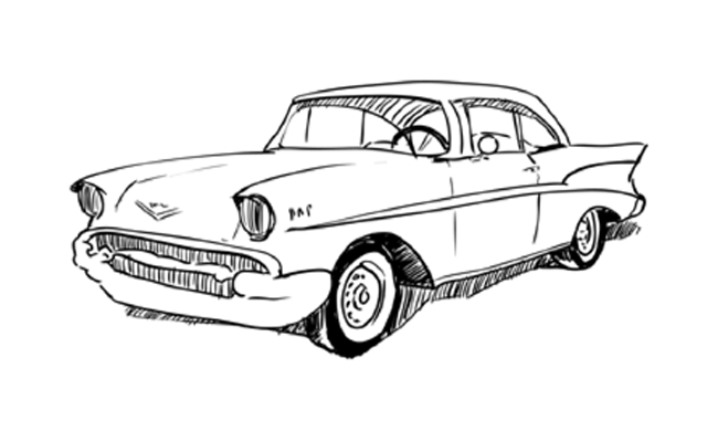 How to Draw a '57 Chevy