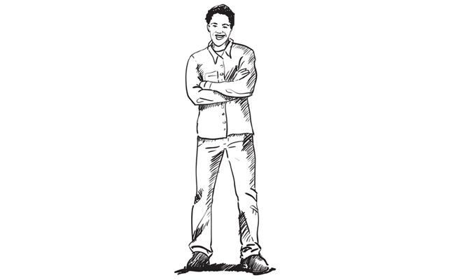 How to Draw a Man Standing