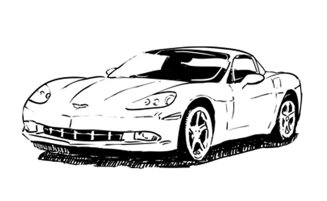 How to Draw a Corvette – Sketchbook Challenge 12