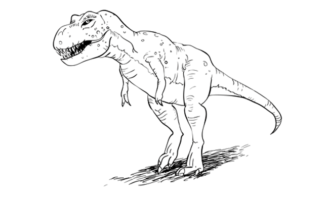 How to Draw a T-Rex Dinosaur – Sketchbook Challenge 25