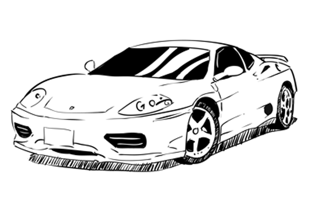 How to Draw a Ferrari – Sketchbook Challenge 30
