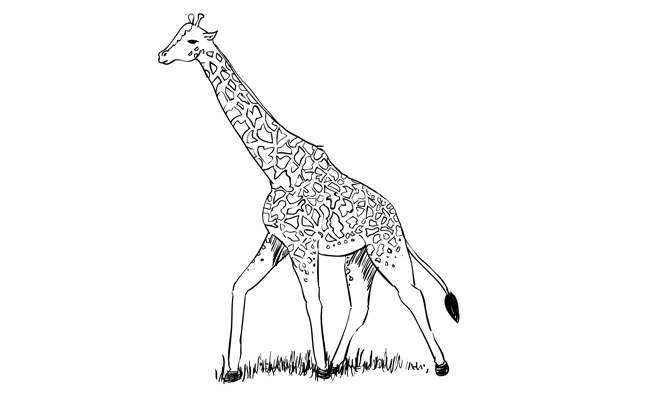 How to Draw a Giraffe – Sketchbook Challenge 33