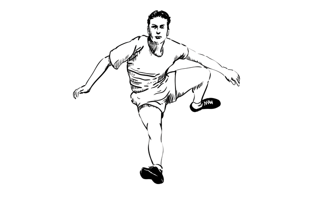 How to Draw a Man Jumping