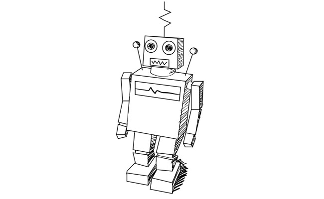 How to Draw a Classic Robot