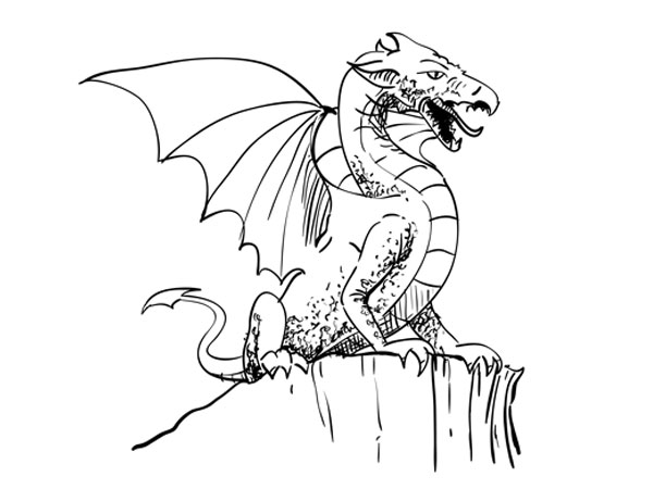 How to draw a dragon sketchbook challenge 53