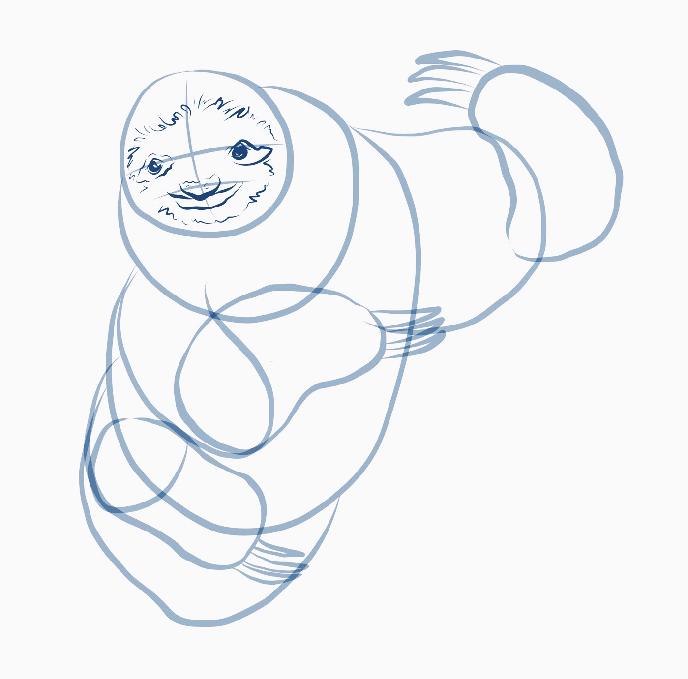 how to draw a sloth step five