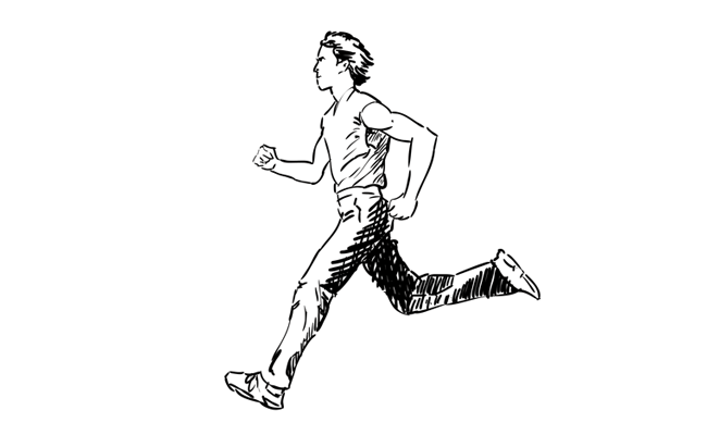 how to draw a man running
